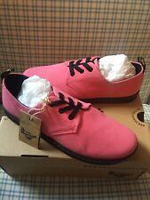 NIB Rare Dr Martens Aldgate Pink Canvas Sneakers 10US 8UK