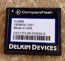 Delkin Devices Compactflash Memory Card Compact Flash 512MB