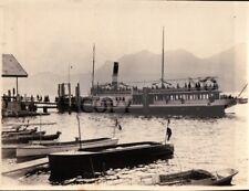 FOTO DEL 1927 - VAPORETTO REGINA MADRE SUL LAGO MAGGIORE -   C9-1155