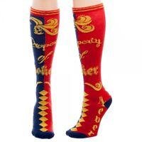DC Comics Harley Quinn PROPERTY OF JOKER Knee High Socks Suicide Squad Womens HA