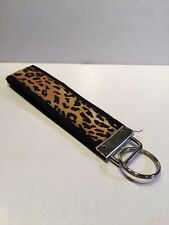New CUTE Unisex Black Cheetah Print Key Chain