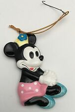 Walt Disney Vintage Minnie Mouse Pink Polka Dot Skirt Christmas Ornament