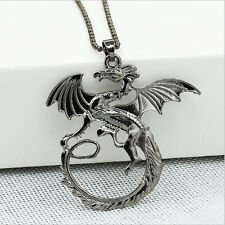 NEW Fashion Gun black Jewelry Dragon Wings Charm Pendant Fit For Necklace AL1