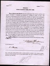 1917 J Walter Thompson - The Advertising King -  signs RARE Proxy - Irving Bank