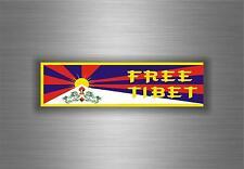 Sticker adesivo adesivi auto tuning bandiera free tibet tibetano buddha budda