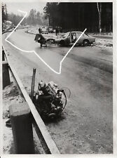 24x18 Press Photo 1962 accident Volvo Amazon Mercedes as or Matt Police Photo