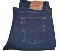 Womens LEVI'S 584 Bootcut Dark Blue Stretch Denim Jeans W30 L30