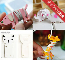 Lot 4pcs Cute Giraffe Dog Cat Wire Cable Cord Winder holder Earphone Organizer