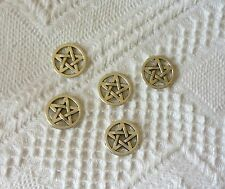 5 x Tibetan Silver Pentagram Connector Charms Jewellery Making  Pagan Charms