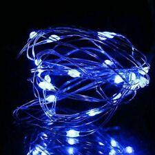 USB LED Alambre de Cobre Cadena Luz Hadas Tira 5M 10M Impermeable para Fiesta