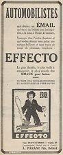 Y8727 EFFECTO émail pour autos - Pubblicità d'epoca - 1928 Old advertising
