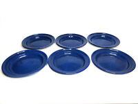 vintage 6 Blue Speckled Enamel Metal Plates-Camping-RV-Home