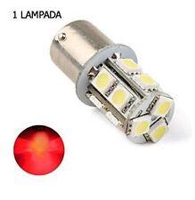 SINGOLA LAMPADA STOP POSIZIONE RETRO DIURNE P21W BA15S 13 LED 5050 ROSSO