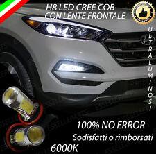 COPPIA LAMPADE FENDINEBBIA H8 LED CREE COB CANBUS HYUNDAI TUCSON 6000K