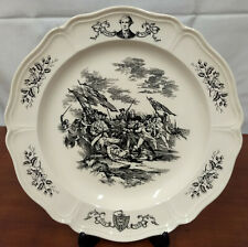 Wedgwood Bunker Hill 200th Anniversary Historical 6th State Massachusetts Plate