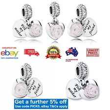 Exclusive EDITION GENUINE Pandora Mother's Rose Hanging Charm Item 791528EN40