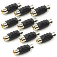 10PCS RCA Female to Female Coupler Plug Audio Video AV Cable Adaptor RCA Joiner