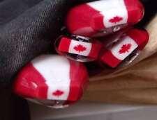 Canadian Flag millefiori murrini 10 gm pyrex boro millifiori millie