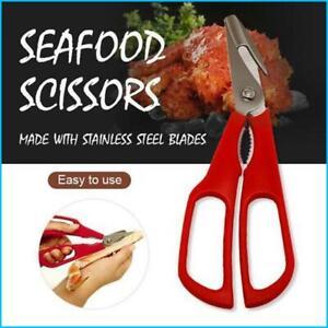 Stainless Steel Seafood Scissors Lobster Fish Prawn Peeler Shrimp Crab Seafood