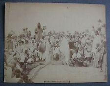 Biskra. 3 grandes photos xixème siècle. Fête Arabe Cavaliers Chameaux.
