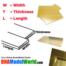 K&S Metals Assorted Brass Shim Sheets (4pcs, different size)