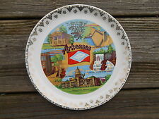 Old Vintage Souvenir Travel Wall Plate Home Decor Decorative Arkansas 7 1/2""