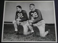 ORIGINAL 1949 LEON HART & JIM MARTIN NOTRE DAME FOOTBALL * ORIGINAL * 8X10 PHOTO