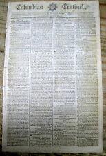 1791 newspaper 3rd ANGO-MYSORE WAR in INDIA between Great Britain & Sultan Tippo