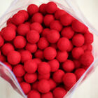 2.5cm RED Felt Wool Balls - CHOOSE QUANTITY - handmade beads pom pom diy craft