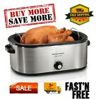 22 Quart Roaster Oven, Fits 28 lb Turkey, Stainless Steel, 32229R photo