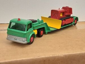 MATCHBOX KING SIZE  #K17DYSON LOW LOADER AND BULLDOZER