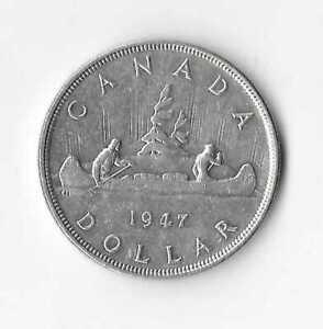 1947 Canadian Silver Dollar (Blunt 7)