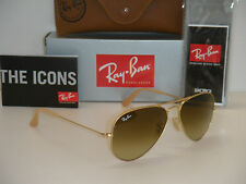 Ray Ban 3025 Aviator RB 3025 112/85 55mm Matte Gold Frame with Brown Gradient SM