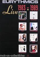 EURYTHMICS LIVE 1983-1989 ALBUM COLLECTION PROMO POSTER