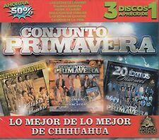 Conjunto Primavera Lo Mejor de Lo Mejor De Chihuahua 3CD BOX SET New Nuevo seale