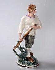 Russische Porzellanfigur Bauer Porzellan UdSSR Landarbeiter