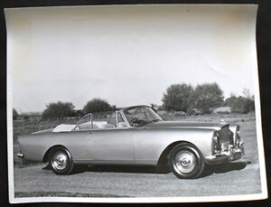 BENTLEY CONTINENTAL DROPHEAD COUPE PRESS PHOTOGRAPH BLACK & WHITE UNDATED