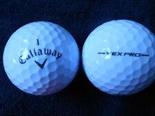 """20 CALLAWAY """"HEX  PRO"""" -BLACK TICK- 2016/17 MODEL- Golf Balls - """"PEARL/A"""".Grades"""