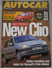 AUTOCAR 28/1/1998 featuring BMW M Roadster, Ginetta G4, Land Rover, Renault