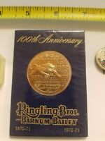 Circus Round 100th Anniversary Ringling Bros. and Barnum & Bailey 1970-71 NICE