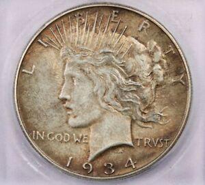 1934-S 1934 Peace Dollar ICG AU58