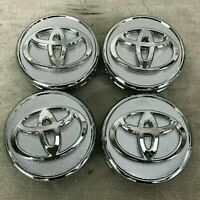 57MM SET OF 4 Wheel Center Caps SILVER CHROME FITS TOYOTA Corolla, Yaris, Prius