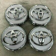 57MM SET OF 4 Wheel Center Caps SILVER CHROME FITS TOYOTA Corolla, Yaris, Prius