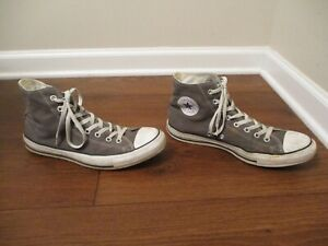 Used Size 11 Fit Like 11.5 - 12 Converse Chuck Taylor All Star High Shoes Gray