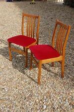 "Pair of Teak Slatted Backed ""Retro"" Bedroom Chairs"