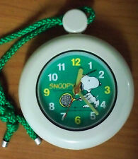 Snoopy Stopwatch Style Clock with Stand and Rope - Peanuts United Feature Synd