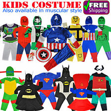NEW SIZE 1-10 KIDS DRESS UP COSTUME SUPERHERO PARTY OUTFIT BOYS GIRLS TODDLER