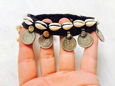 Shells. Pair Belly Dance Festivals Vintage Kuchi Tribal Anklets with Cowry