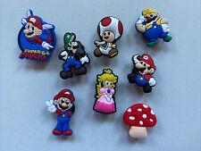 8x Schuhstecker/Shoe Charms für Clogs/Crocs  Schuhpins Super Mario Luigi