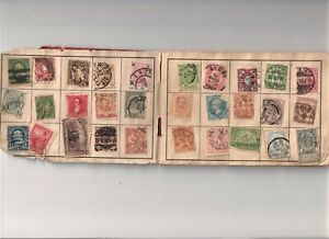 Rare The Dime Stamp Album late 1800's to early 1900's Washington 1-6 cents Mixed